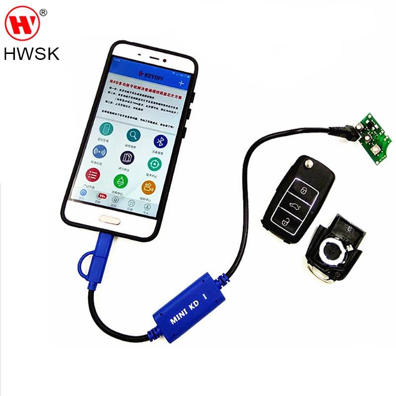 HWSK KEYDIY Mini KD Key Generator Télécommandes Entrepôt dans Votre téléphone Soutien Android Faire Plus Que 1000 Auto Télécommandes Similaire KD900