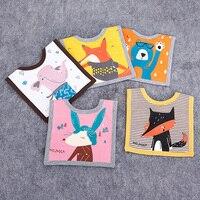 5 Style Fox Bear Elephant Triangular Animal Burp Cartoon Cotton Cool Design Bandana Baby Bibs Triangle