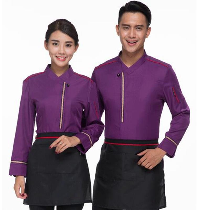 Hotel Uniform Pot Restaurace Kavárna Žena Hotel Číšník Korejské oblečení s dlouhými rukávy a zástěra