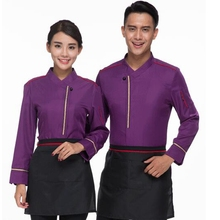 Hotel Uniform Pot Restaurant Coffee Shop Female Hotel Waiter Korean Clothes with Long Sleeves with Apron