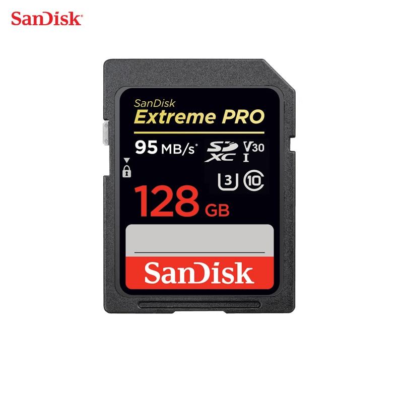 Scheda di Memoria SanDisk Extreme Pro SDHC/SDXC SD Card 95 MB/s 128 GB Class10 C10 U3 V30 UHS-I 4 K Per La Macchina Fotografica SDXXG