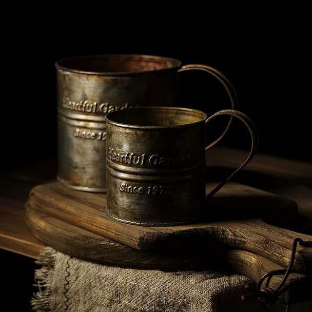 Photography Props Vintage English Retro Coffee Mug