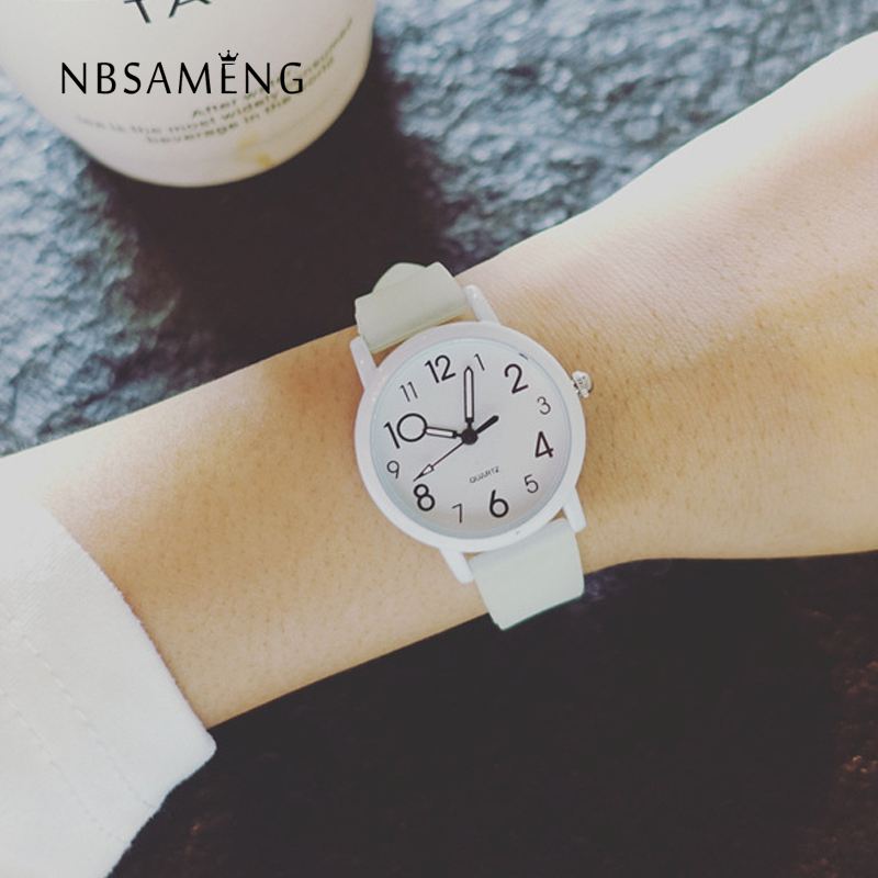 New Women Watch Men Fashion Quartz Wristwatch Simple Dial Silicone Ladies Watches Girls Cute Gift Clock Relojes Feminino LZ2318 onlyou men s watch women unique fashion leisure quartz watches band brown watch male clock ladies dress wristwatch black men