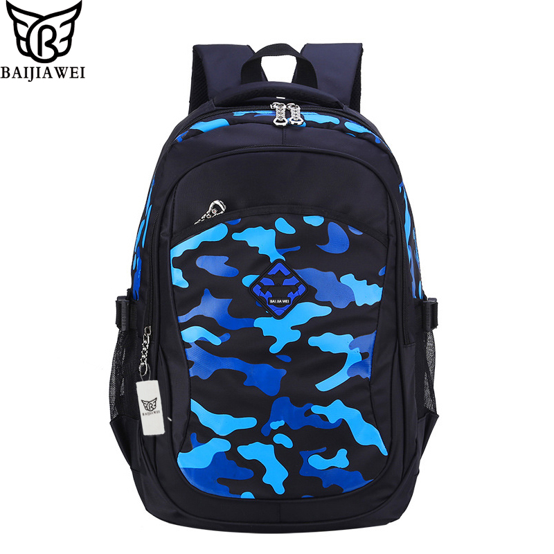 BAIJIAWEI Hot Sale Backpack For Children Brand Design Backpacks For Teenage  Camouflage Printing School Bags For Kids mochila Zip d158ff7a98