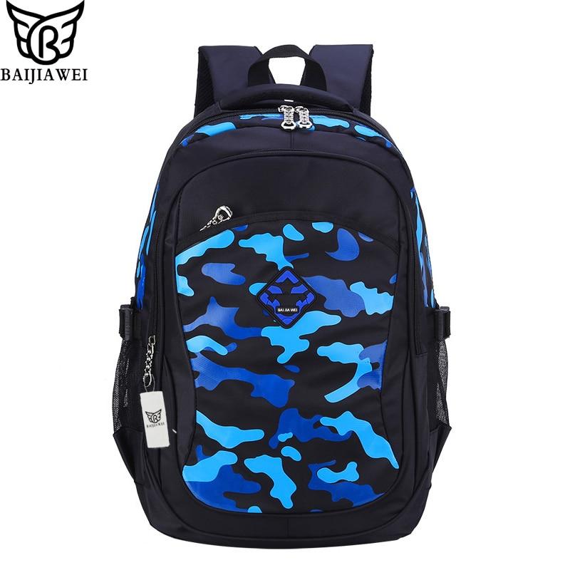 2016 Hot Sale Backpack For Children Brand Design Backpacks For Teenage Camouflage Printing School Bags For Kids mochila Zip