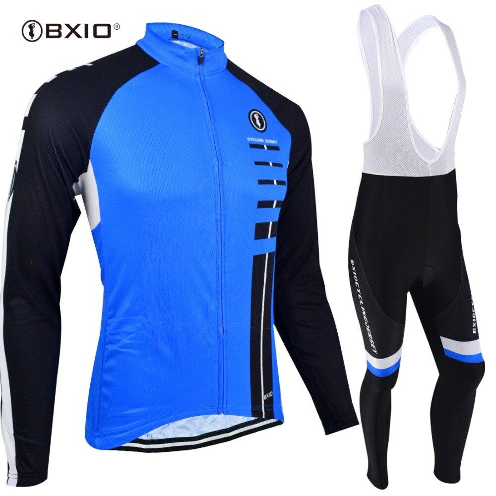 BXIO nouveau maillot de cyclisme à manches longues course vélo cyclisme vêtements vtt Cycle ensembles vêtements porter Ropa Ciclismo Sportswear 029