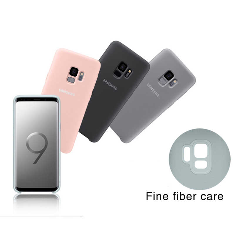 Originele Samsung Galaxy S9/S9 Plus S9 + Silky Silicone Cover Soft-Touch Afwerking Back Beschermhoes G960 g965 s9 5.8/6.2 Inch