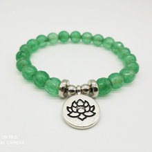 High Quality Transparent green Bracelet Natural Stone Bead Mens Bracelet Throat Chakra Spiritual Gift for Him Free Shipping(China)