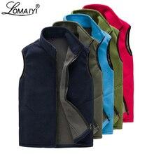 LOMAIYI Mens Vests Men Spring/Autumn/Winter Warm Vest Man Navy Waistcoat Male Sleeveless Jacket Mens Polar Fleece Vest AM131