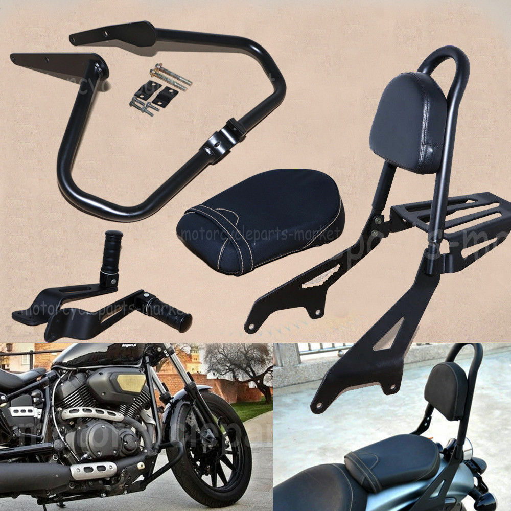 Motorcycle Backrest Detachable Passenger Pad Sissy Bar For Yamaha Star Bolt XV950 XVS950 2014 2015 2016 2017
