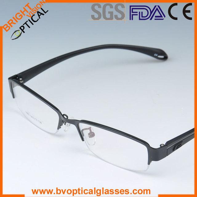 1892 medio borde de Moda impreso prescription miopía marcos de los vidrios ópticos del metal con los templos TR90 gafas gafas