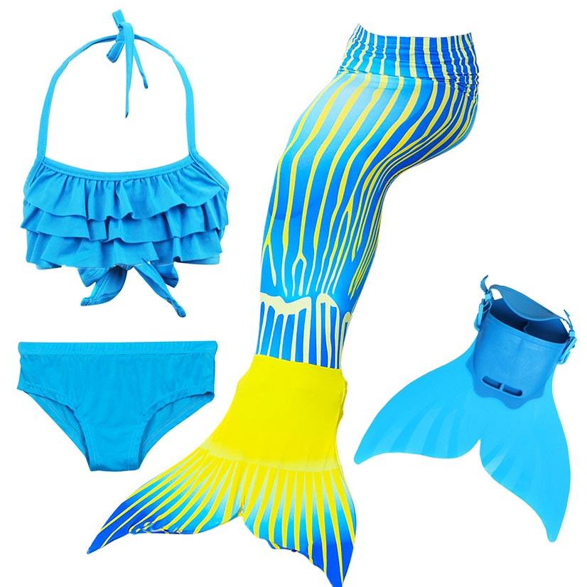 Beautiful Girls Kids Children Mermaid Tails For Swimming Costume Swimmable Bikini Bathing Swimsuit Little Mermaid Tail Cosplay