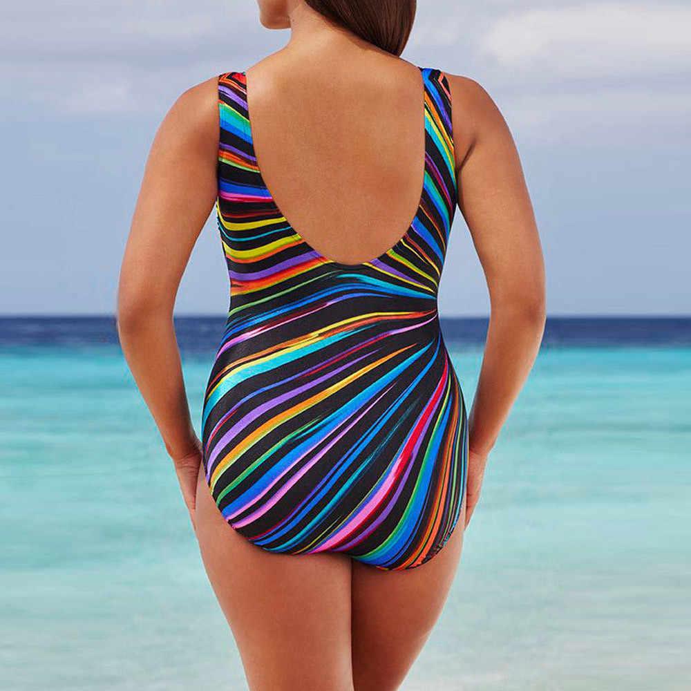 Donne Costume Da Bagno Imbottito Costume Da Bagno Più di Formato Delle Signore Della Spiaggia di Estate Monokini Costumi Da Bagno Push-Up Imbottito Bikini Set Vestiti
