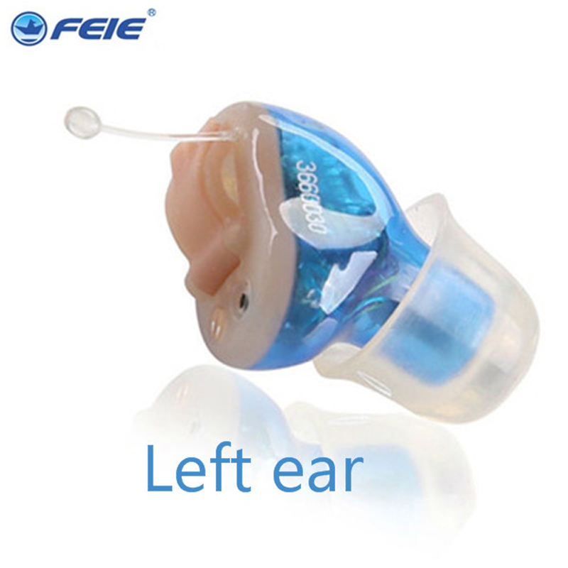 Feie Mini CIC Invisible Hearing Aids in Ear Digital Hearing Deaf Hearing Aid  for he Elderly S-12A feie company digital programmable mini in ear hearing amplifier cic aparelho auditivo invisivel s 12a online sale