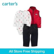 Carter s 3 Piece baby children kids clothing Boy Fall Winter Little Vest Fleece Set 121H928