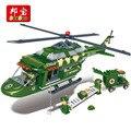 Ejército banbao serie rescatador helicóptero bloques 8253 classic niño ladrillos de bloques de construcción de juguete