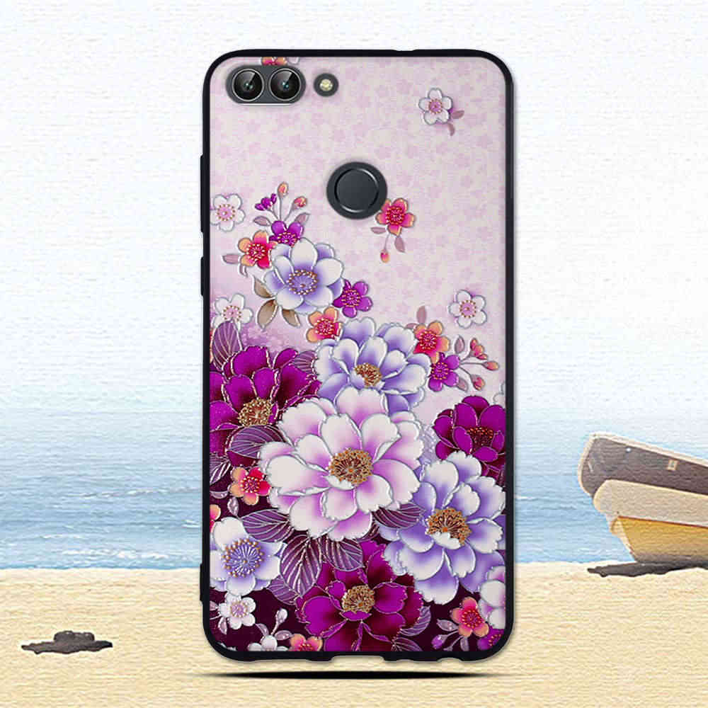 Silicone Case for Huawei P smart Case Soft TPU Back Cover for Huawei Psmart Shells for Huawei Enjoy 7S FIG-LX1 Phone Fundas Bags