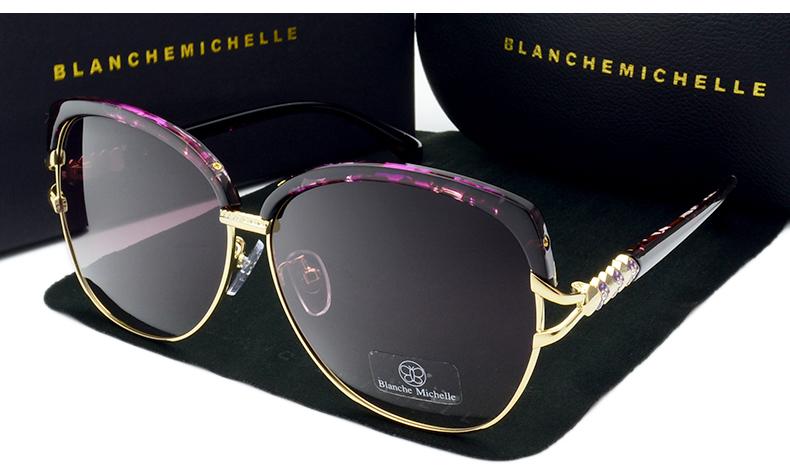 HTB1wJOibfNNTKJjSspcq6z4KVXai - Blanche Michelle 2018 High Quality Square Polarized Sunglasses Women Brand Designer UV400 Sun Glasses Gradient Sunglass With Box
