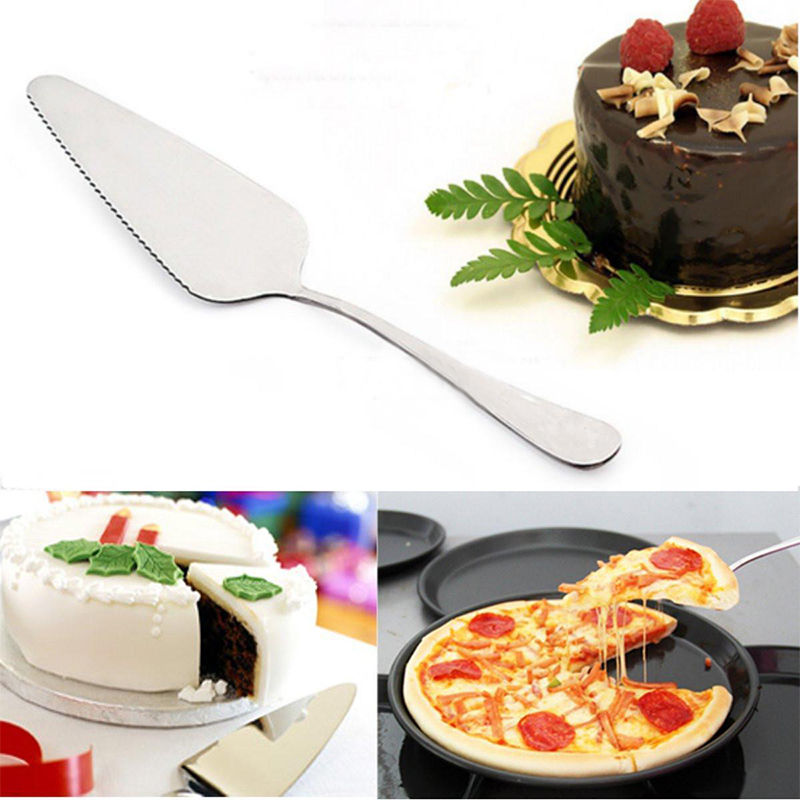 Stainless Steel Toothed Wedding Cake Cutter Pizza Pie Server Cutting Fruit Knife