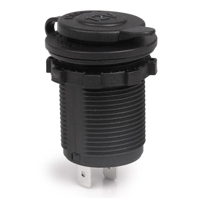 1 unidad de enchufe del encendedor del cigarrillo 12 V impermeable del coche del barco de la motocicleta del encendedor de cigarrillos toma de corriente