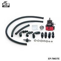 EPMAN Racing Car Universal Adjustable Fuel Pressure Regulator KIT Gauge AN 6 Fitting EP 7MGTE