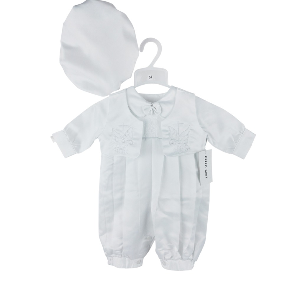 BBVESTIDO Baptism christening Romper clothing set with ...