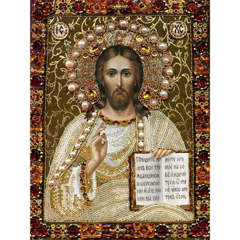5d diamond embroidery religion jesus christ images full for Mosaic painting meaning