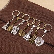 Buddhism Buddha Statue Mix Keychain Diy Handmade Gifts Religious Jewelry Accessories