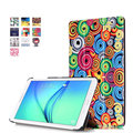 Высокое Качество Окрашенные Узоры Кожа Pu Обложка Книги Case для Samsung Galaxy Tab E 9.6 T560 T561 + Стилус + Экран Фильма