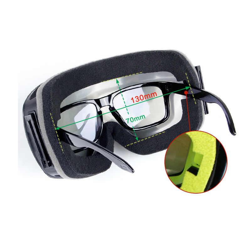 Kayak gözlüğü çift katmanlar UV anti-sis büyük kayak maskesi gözlük kayak kar Snowboard gözlüğü erkekler kadınlar kayak gözlük