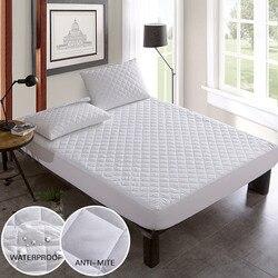 غطاء السرير أقمشة مصقولة واقي مراتب مبطن فراش مقاوم للماء توبر للسرير مكافحة سوس غطاء مرتبة copri rete letto