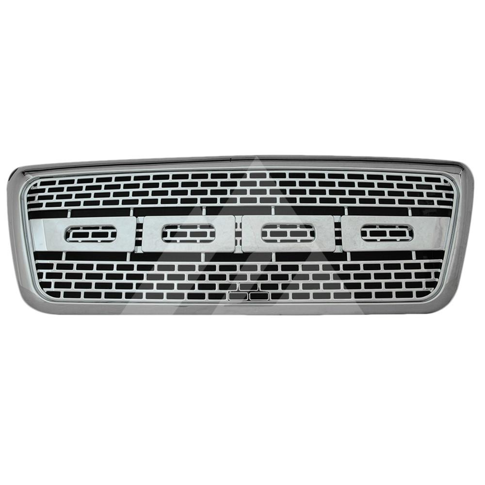 for 2004 2005 <font><b>2006</b></font> 2007 2008 <font><b>Ford</b></font> <font><b>F150</b></font> ABS Chrome Raptor Packaged Grille image