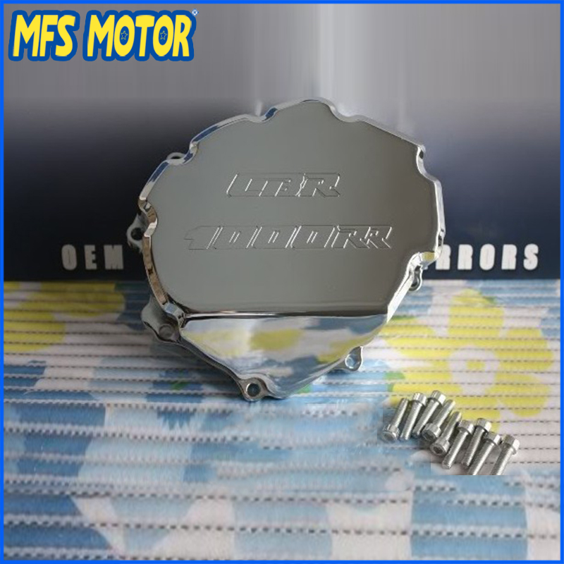 Freeshipping motorcycle parts Left side Billet Engine Stator cover For Honda CBR1000RR 2008 2009 2010 2011 2012 2013 Chrome engine alternator clutch ignition cover set kit for honda cbr600rr cbr 600 rr 2007 2008 2009 2010 2011 2012 2013 2014 2015 2016
