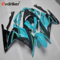 ABS Plastic fairing for ZX300R EX300 2013 2014+Bolts+Painted light blue Injection mold