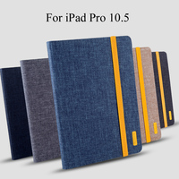 Silicon Cloth PU Leather Case For IPad Pro 10 5 A1701 A1709 Smart Sleep Case Cover