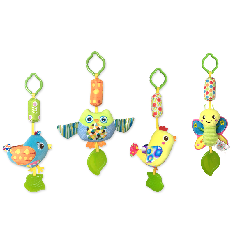0-12 months plush toys baby stroller / bed hanging four styles / animal hand bell dial rattan / toothbrush toys