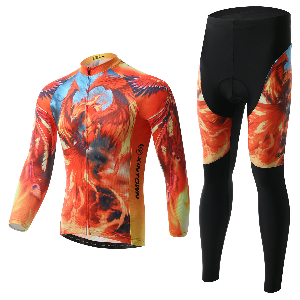 XINTOWN Spring Autumn Cycling Jersey Set Long Sleeve 3d Gel Padded Sets Bike Clothing MTB Protective Wear Cycling Cycle Clothes wosawe men s long sleeve cycling jersey sets breathable gel padded mtb tights sportswear for all season cycling clothings