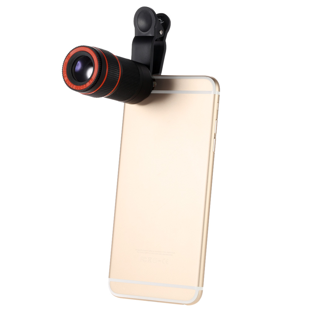 sports shoes c1d9d 5acb9 US $8.99 |8X Zoom Universal Mobile Phone Lentes Clip Telephoto Camera  Telescope Lens For iPhone 6 6s 7 8 Plus 5 5s 5c 4 4s Smartphone-in Mobile  Phone ...