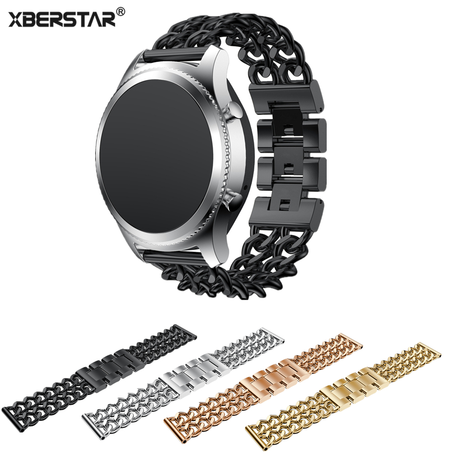 Chain Watchband for Samsung Gear S3 Stainless Steel Strap for Gear s3 Classic Frontier Luxury Material Fashion Style смарт часы samsung gear s2 black