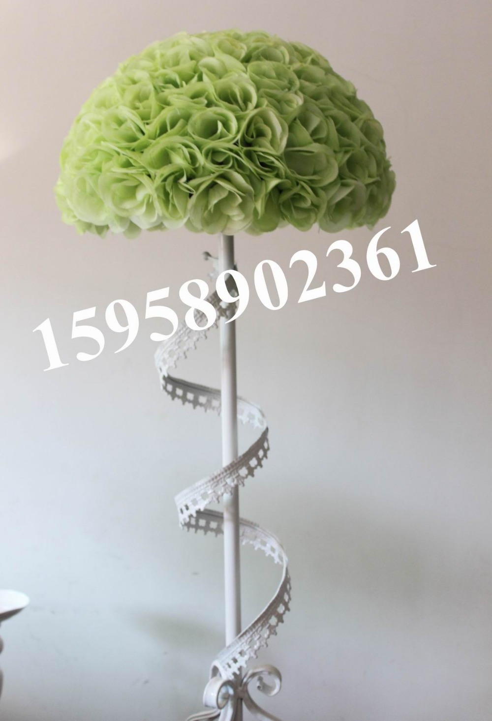 Online buy wholesale silk flowers factory direct from china silk 40cm plastic center artificial flowers ballswedding decorationsfactory directly sales light green dhlflorist Gallery