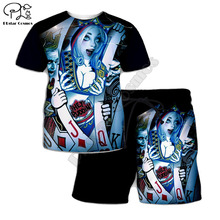 PLstar Cosmos Summer T Shirts Quinn/Jack Printed 3D T-Shirt and shorts Mens for boy poker Suit Drop shipping