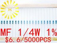 MF 1/4 Вт 1% на ленте 0,1-0.91R 0R 1R-10M 11-22 м металлический пленочный резистор x 5000 шт