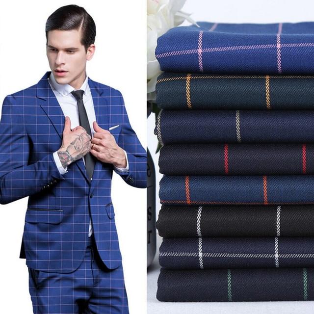 7433439d895a2 Costumes pour hommes tissus à rayures haute qualité costumes d'affaires  formels personnalisés un grain