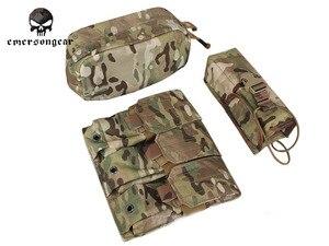 Image 5 - Emersongear LBT 6094 Áo Khoác Chiến Thuật Giáp Thân Với 3 Túi Săn Bắn Airsoft Quân Sự Chiến Đấu Gear EM7440 AOR Kaki Mandrake