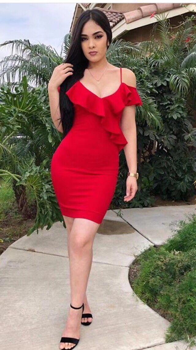 Haute qualité rouge volants sans manches moulante rayonne Bandage robe célébrité robe de soirée