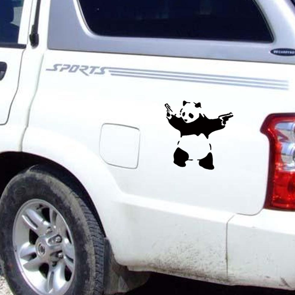 Banksy panda with guns sticker truck stickers logos and vinyl - Getsubject Aeproduct