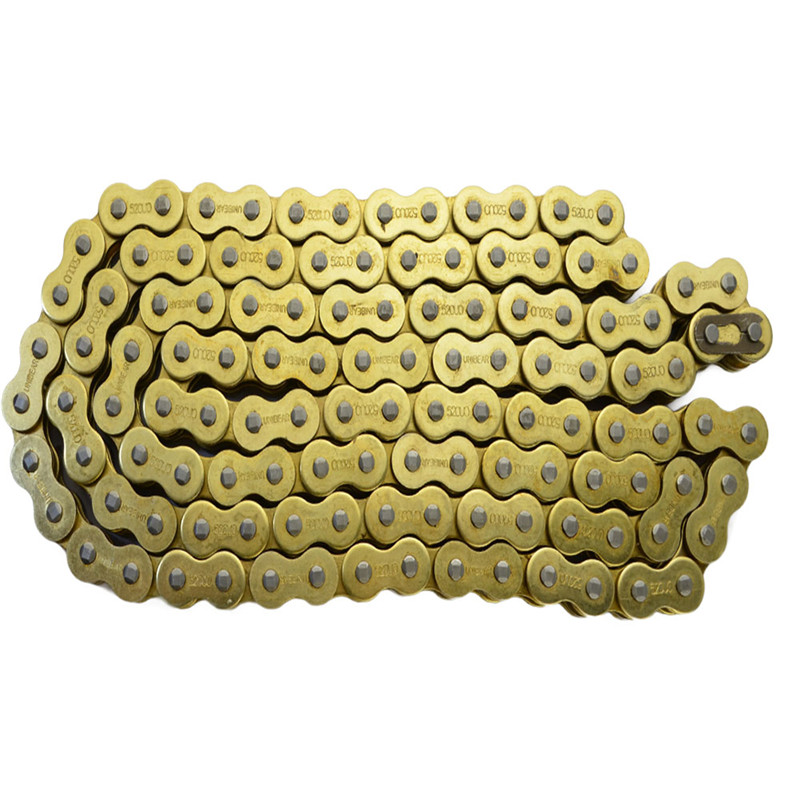 525 * 120 Motorcycle Drive Chain parts 525 Pitch Heavy Duty Gold O-Ring Chain 120 Links for Honda Suzuki Yamaha Kawasaki 530 120 brand new unibear motorcycle drive chain 530 gold o ring chain 120 links for cagiva ala azzurra 650 drive belts