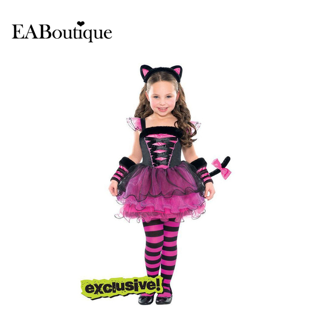 EABoutique  New Halloween costume Cute girls clothes Kitten Costume include TUTU dress Legging Headband 3 piece set