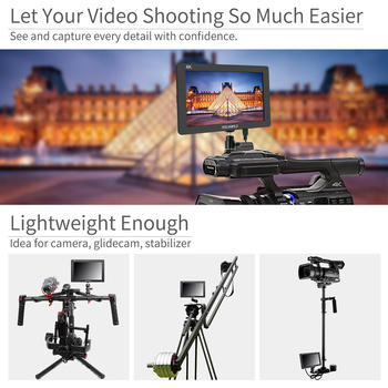 "Feelworld FH7 7"" IPS 4K 1920x1200 Full HD Camera Field Monitor with HDMI 4K UHD Input Output Peaking Focus Histogram Zebra Audio"