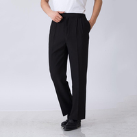High Quality Elastic Waist Chef Working Pants Hotel Restaurant Black Clothing Waiter Trousers Men Chef Pants